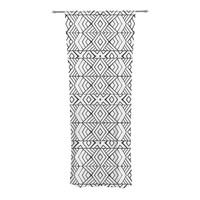 "Pom Graphic Design ""Tribal Expression"" Black White Decorative Sheer Curtains"