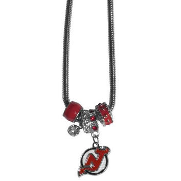 New Jersey Devils Necklace - Euro Bead