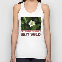 Wild Strawberry Flower Unisex Tank Top by Digital2real