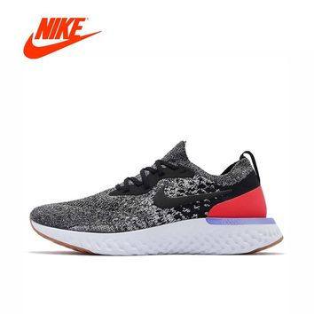 Original New Arrival Authentic NIKE Epic React Flyknit Mens Running Shoes Sneakers Sport Outdoor Gym Shoes 2018 WinterSneakers