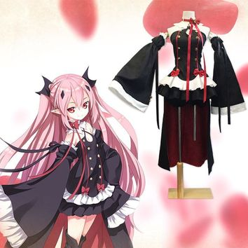 Krul Tepes Cosplay Anime Owari no Seraph Seraph of The End Third Ancestor Vampire Black Sexy Uwowo Costume