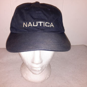 Vintage 90s Nautica Competition Strapback hat cap  Retro Dope polo sport tommy