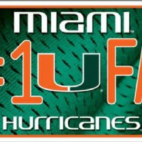Miami Hurricanes #1 Fans License Plate Tag