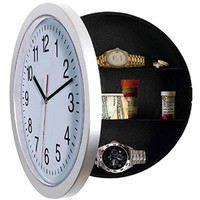 LIMITED Wall Clock, Unique Gift, Large Wall Clocks with a Hidden Compartment or Stash Box. Kitchen Clock with 10 inch White Face. Use as Secret Place to STASH CASH.
