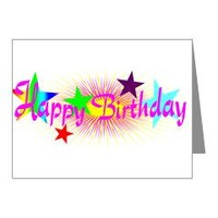Pink Happy Birthday Note Cards> Pink Happy Birthday> Allcolor