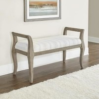 Gray Stripe Gunnar Bench