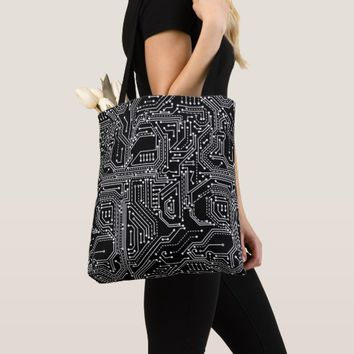 Computer Circuit Board All-Over-Print Tote Bag