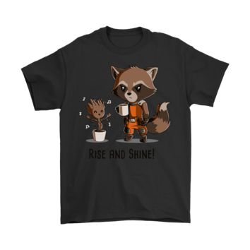 ONETOW Guardians Of The Galaxy - Rise And Shine - Groot Shirts
