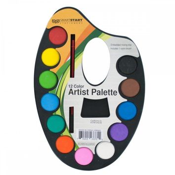 Watercolor Paint Artist Palette With Mixing Tray HW669