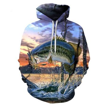 Fishing Bait All Over Print Hoodie Sweater