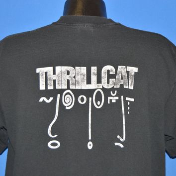 90s Thrillcat Rock Band Double Sided t-shirt Extra Large