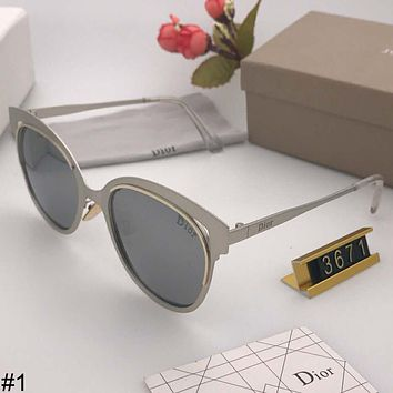 DIOR 2018 new polarized sunglasses elegant metal large frame colorful driving mirror sunglasses #1