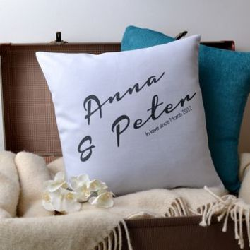 'In Love' Couple Cushion Cover