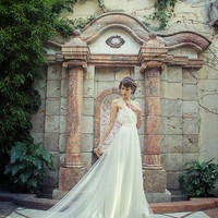 wedding gown THE SWAN DRESS bridal dress ivory white feathers and ivory satin wedding gown feathered
