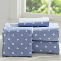 The Emily + Meritt Chambray Dottie Sheet Set