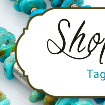 Etsy Shop Cover Photo 1200x300, Premade Turquoise Jewelry Design, Jewelry Banner, Customize Shop Name, Looks Great on Mobile Devices