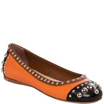 Prada Studded Leather Flats