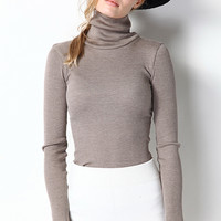 Turtleneck Basic Long Sleeve Top TP0200