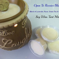 Open To Receive Blend Soy Candle Tart Melts Yoga Reiki Meditation Tart Cups For Metaphysical and New Age