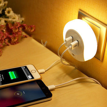 Smart Light Sensor USB Charger LED Light