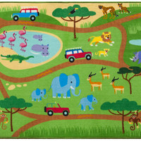 Olive Kids Safari Play Rug - 697416