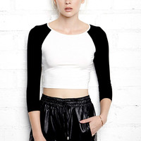 Cropped Baseball Top