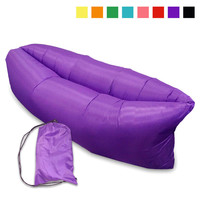 Fast Inflatable Camping Sofa banana Sleeping Bag Hangout Nylon lazy lay laybag Air Bed chair Couch Lounger Saco de dormir