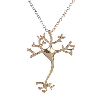 2017 New Fashion Science Jewelry Hippie Chic Neuron Brain Nerve Cell Necklace Colar Boho Neuron Necklaces for Women N197