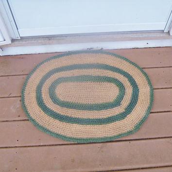 Crochet Jute Welcome/Door/Shoe Mat