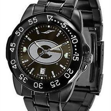 Georgia Bulldogs Mens Watch Fantom Gunmetal Finish Black Dial