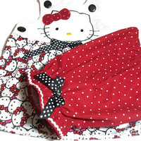 Baby Girl Clothes - Hello Kitty Outfit - Baby Pantaloon Set - Baby girl Suntop and Pantaloons