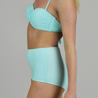 Bright Skies High-Waisted Swimsuit