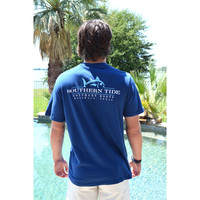 Southern Tide Southern Roots Custom Tee- Yacht Blue