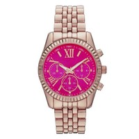 Women's Mossimo® Watch with Decorative Subdials - Rose Gold/Pink