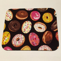 Mouse Pad mouse pad / Mat - Iced donuts - round or rectangle - office accessories desk home decor