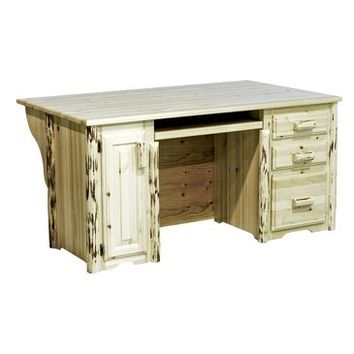 Montana Woodworks Executive's Office Desk in Clear Lacquer