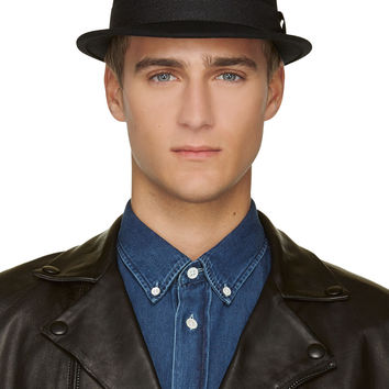Rag And Bone Black Wool Trilby Fedora