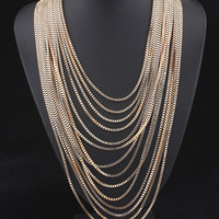 Gift Stylish Jewelry New Arrival Shiny Vintage Tassels Sweater Accessory Necklace [4920295876]