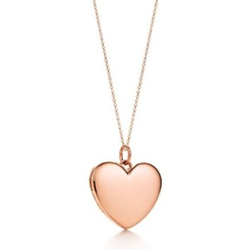 Tiffany & Co. -  Heart locket pendant in 18k rose gold, large.