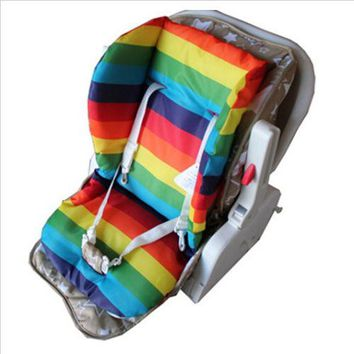 Baby Stroller Accessories Soft Colorful Baby Infant Car Seat Pushchair Cushion Cotton Cover Mat Lovely Cute Design Baby Seat