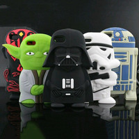 New Hot Phone Case  For Iphone 6 6S 4 4S 5 5S 5C SE 6 Plus 6S Plus Star Wars Image Soft Silicon Phone Back Cover YC1287