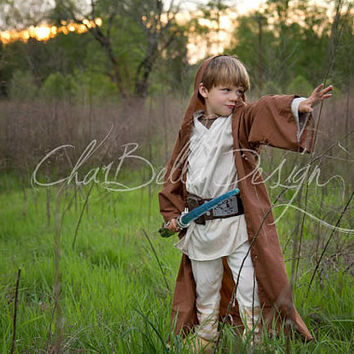 Brown Hooded Star Wars Jedi Cape Robe for Costumes and Battles