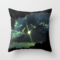 Through the Light Throw Pillow by ES Creative Designs