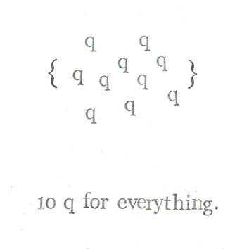 10 Q For Everything Thank You Card | Nerdy Funny Pun Math Humor Men Women Geeky Vintage Weird Teacher Dad Office School Coworker