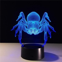 3D LED Night Lamp  7 Color Change Touch Button Switch and Remote Control USB Powered Amazing Art Optical Unique Lighting Effects Desk Table Night Light for Bedroom Home Decor