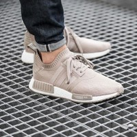 Best Online Sale Adidas NMD R1 PK Cream S81848 Boost Sport Running Shoes Classic Casual Shoes Sneakers