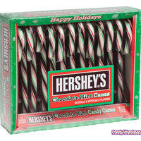 Hershey's Chocolate Mint Candy Canes: 12-Piece Box