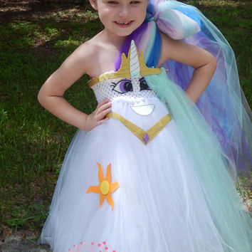Princess Celestia Inspired my Little Pony tutu Halloween Costume Birthday Dress Girls and Adult women