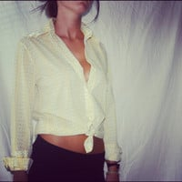 Yellow Flower Blouse with Studs