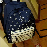 Navy Style Canvas Backpack with Anchor from AnnaliseSBoutique